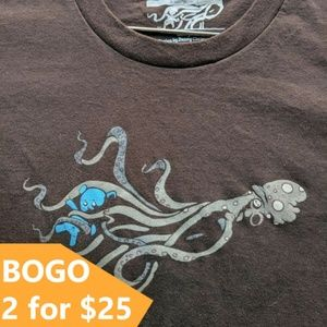 "Threadless Vintage 2008 ""Octopus"" 🐙 Graphic Tee"